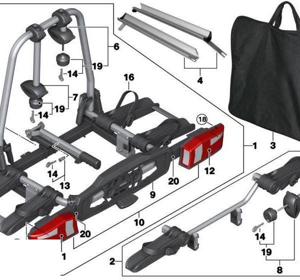 Fietsendrager onderdelen